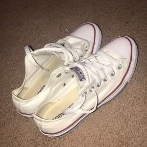 Low Top All White Converse